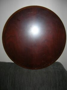 THE BOMBAY COMPANY  ROUND WOODEN  TABLE  BASE  14 in dm Burgundy