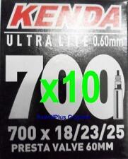 2x Kenda 700c PRESTA Ultra Lite Light Road Tube 700x18/23/25 F/V 60mm Valve 68g