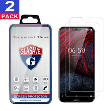 (2 Pack) GLASAVE Nokia 6.1 Plus,X6 2018 Tempered Glass Screen Protector
