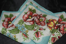 vintage handkerchief HANKY flower print A PRETTY THING charmer UNUSED '40s style