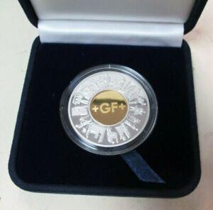 Georg Fischer +GF+ 2002 5 Gram 585 Gold and 31 Gram 900 Silver Coin