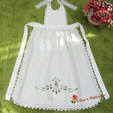 Victorian Battenburg Lace Full Apron~White~Maid Costume~Cosplay/Party/Banquet~