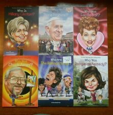 Lot of 6 Who Is Who Was books Lucille Ball Rolling Stones Pope Francis Kennedy