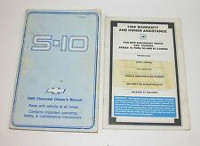 1986 Chevrolet S10 Pickup Factory Owners Manual With Warranty Book