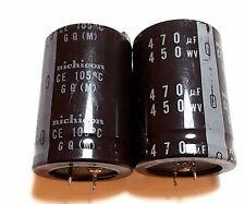 2pcs Nichicon 450V 470uF 105℃ GQ Series Electrolytic Capacitor Low Loss ESR Tone