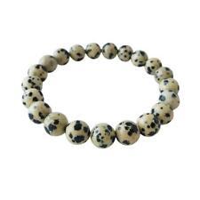 Beads 7.5 Mm Beaded Bracelet Aaa Quality Dalmatian Jasper Plain Round