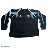 Adidas Argentina National SoccerTeam Black Long Sleeve Jersey Men's XL Pullover.