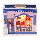 DIY Adorable DollHouse Miniature w/Light Wooden Queen Shop Mini House Model Kit