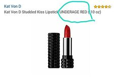 "Kat Von D Studded Kiss Lipstick in"" Underage Red"" - OR YOU CAN REQUEST ONE"