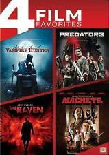 ABRAHAM LINCOLN VAMPIRE HUNTER/PREDATORS/RAVEN/MACHETE (DVD, 2014) NEW