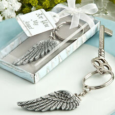 12 Angel Wing Keychains Birthday Party Bridal Shower Wedding Favors