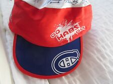 MONTREAL CANADIENS PAINT BALL CAP HAT RENO DEPOT TEAM FACSIMILE SIGNATURE NHL