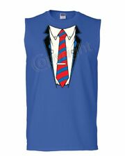 Shirt and Tie Muscle Shirt Office Suit Casual Funny Sleeveless