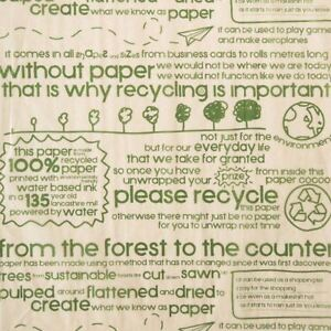Recycled Acid Free Tissue Paper - Coloured Gift Wrapping Pattern Eco Friendly
