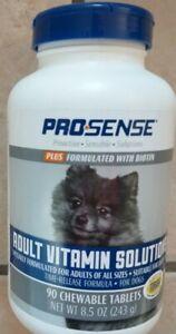 PRO-SENSE - ADULT VITAMIN SOLUTIONS Plus BIOTIN 90 Chewable Dog Tablets *NEW*