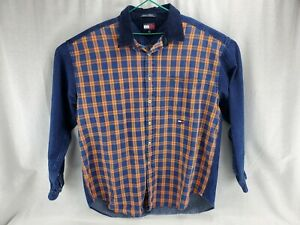 Tommy Hilfiger Mens Shirt Brown Size Small S Button Down Military $89 132