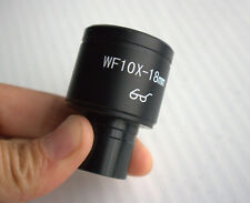WF10X 18mm Wide Angle Hight Eyepiont Eyepiece Biological Microscope Lens 23.2mm