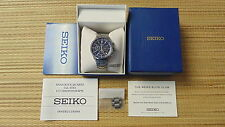 SEIKO 6T63-00B0 CHRONO CHRONOGRAPH DEPLOYMENT BRACELET STAINLESS WATCH BOXED SET