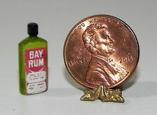 Dollhouse Miniature Bay Rum Vintage Label Hudson River Minis 1:12 Scale