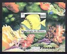 Poissons Guinée (6) bloc oblitéré