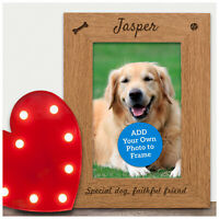 Personalised Pet Dog Memorial Photo Frame Gift Engraved Dog Pet Loss Keepsake