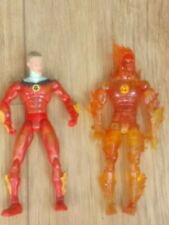 """Fantastic Four 4 - Human Torch x2 Action Figures 6"""" high"""