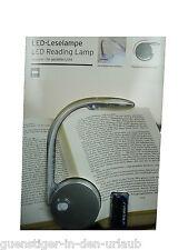 TCM Tchibo LED Leselampe USB Kabel Lampe Leuchte Klemmlampe Stellen o Klippen