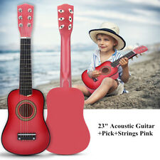 """23"""" Kids Beginners Basswood Acoustic Guitar+ Pick + Strings Musical Instrument"""