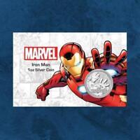 Tuvalu - Marvel - Iron Man - 1 $ 2018 BU - Silber / Silver 1 oz