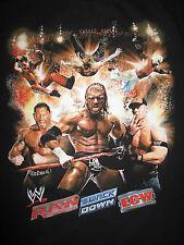 RAW Smack Down ECW (LG A) T-Shirt SHAWN MICHAELS JOHN CENA REY MYSTERIO THE ROCK