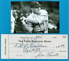 JOE SEWELL Baseball Hall of Fame SIGNED BANK CHECK First National Bank SIGNATURE