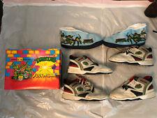 Vintage Teenage Mutant Ninja Turtles Shoes / Boys Size 3 Tmnt Lot of 3 + Box