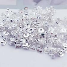 925 Sterling Silver Earrings Back Stoppers Jewelry Findings For Stud Pin