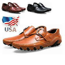 US Genuine Leather Men Casual Loafers Moccasins Breathable Driving Shoes   x