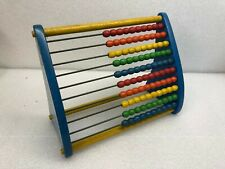 Vintage Playskool Abacus Blue Sides Yellow Rods Various Colors EX Shape