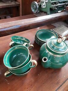 Antico set giapponese tazzine da tè con zuccheriera, teiera e bricco vintage