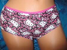 nwt Hello Kitty Cat Hot Pink & Black Animal Leopard Print Boyshorts Panties S
