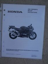 2001 Honda Motorcycle CBR600F4i Set Up Instruction Manual with Wiring Diagram L