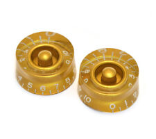 (2) Gold 1-10 Speed Knobs for Gibson® & Guitar/Bass w/CTS Pots PK-0130-032