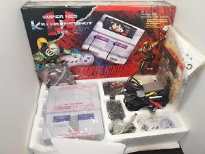 Super Nintendo SNES Console Killer Instinct Set Complete w/ Matching Serial Rare