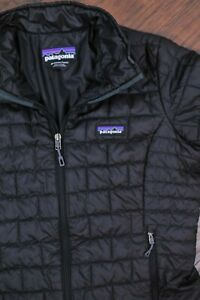 Patagonia Nano Puff Quilted Jacket Black Women's Medium M