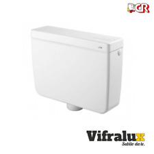 Cassetta scarico esterna per bagno wc con pulsante un tasto monotasto bianco cr