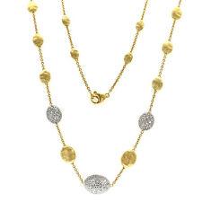 "Marco Bicego Siviglia 18K Yellow Gold Diamondz Necklace Size 18"" »U48 $5930"