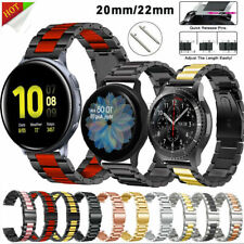 20/22mm Stainless Steel Metal Strap for Samsung Galaxy Watch 3 Active 2 Band