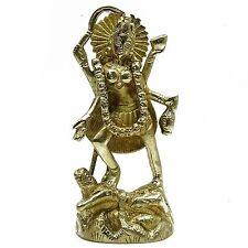 "Brass Goddess Kali on lord Shiva""s corpse Statue Religious Handmade Table Deco"