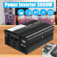 Solar Power Inverter Peak 12V DC To 220V AC Modified Sine Wave Converter 3000W