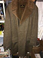 Zero King Vintage Pure Virgin Wool Overcoat Topcoat Lined 42L Chocolate Brown