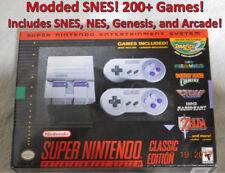 Super Nintendo Classic Modded w/ SNES, NES, Sega Genesis plus 9 Classic Arcade