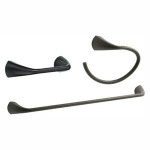 KOHLER 3-Piece Hardware Towel Bar Ring Toiler Paper Holder in Oil Rubbed Bronze