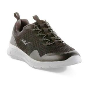 Everlast Ease Sport Memory Foam Shoes Men Black 60246 SLIM FIT RUN SMALL SIZE UP